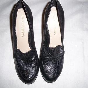 Franco Sarto Black Rosana Loafer Heels